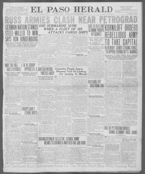 Primary view of object titled 'El Paso Herald (El Paso, Tex.), Ed. 1, Tuesday, September 11, 1917'.
