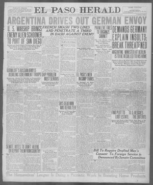 Primary view of object titled 'El Paso Herald (El Paso, Tex.), Ed. 1, Wednesday, September 12, 1917'.