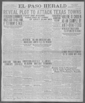 Primary view of object titled 'El Paso Herald (El Paso, Tex.), Ed. 1, Monday, September 17, 1917'.