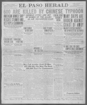 Primary view of object titled 'El Paso Herald (El Paso, Tex.), Ed. 1, Wednesday, September 19, 1917'.