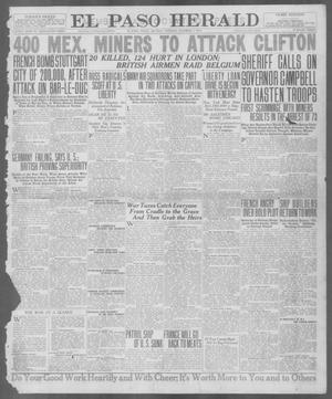 Primary view of object titled 'El Paso Herald (El Paso, Tex.), Ed. 1, Monday, October 1, 1917'.