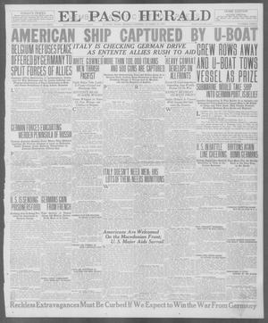 Primary view of object titled 'El Paso Herald (El Paso, Tex.), Ed. 1, Monday, October 29, 1917'.