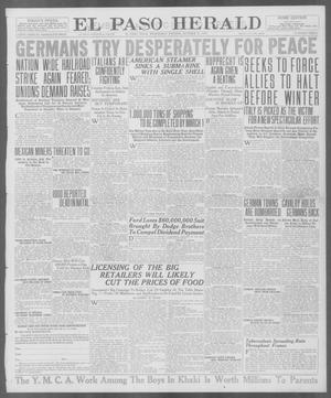 Primary view of object titled 'El Paso Herald (El Paso, Tex.), Ed. 1, Wednesday, October 31, 1917'.