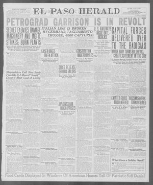 Primary view of object titled 'El Paso Herald (El Paso, Tex.), Ed. 1, Monday, November 5, 1917'.