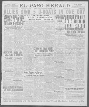 Primary view of object titled 'El Paso Herald (El Paso, Tex.), Ed. 1, Monday, November 19, 1917'.