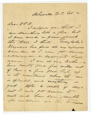 Primary view of object titled '[Handwritten letter from O. Henry to Franklin Pierce Adams]'.