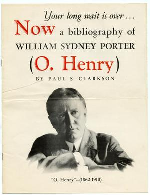 Advertisement for O. Henry Bibliography