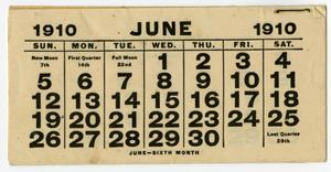 Primary view of object titled 'Calendar page'.