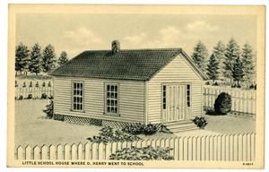 Primary view of object titled 'School attended by O. Henry'.