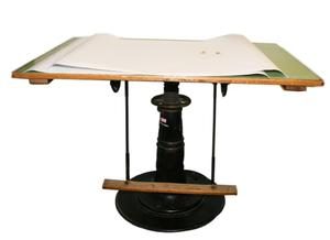 Primary view of object titled 'Drafting table'.