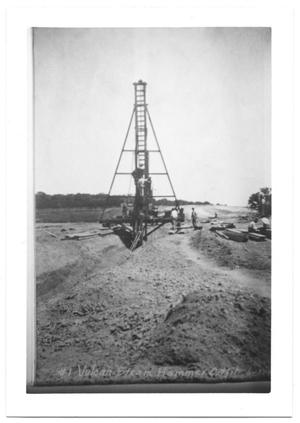 Primary view of object titled '[Construction Equipment at White Rock Lake]'.