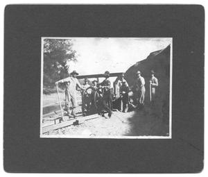 Primary view of object titled '[Men Working at White Rock Lake]'.
