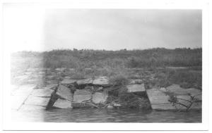 Primary view of object titled '[Damages to Bachman Dam]'.
