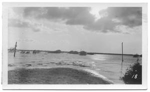 Primary view of object titled '[East Side of Lake, Looking Over Fish Trap Crossing]'.