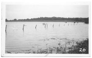 Primary view of object titled '[Flooding Near Isle du Bois Bridge]'.