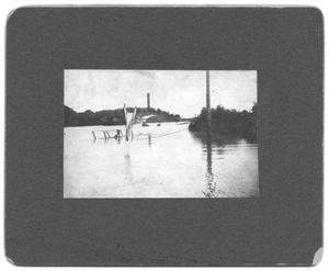 Primary view of object titled '[Trinity River Flood Waters From Turtle Creek]'.