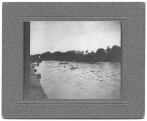 Primary view of object titled '[Trinity River Flood Waters From Train Track]'.