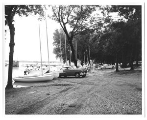 Primary view of object titled '[Boats at Lake]'.