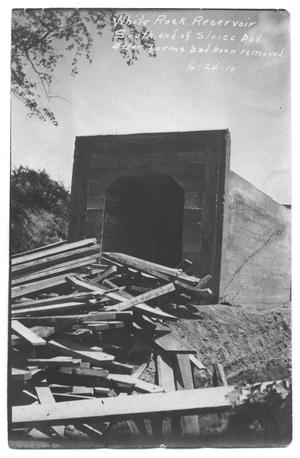 Primary view of object titled '[White Rock Reservoir Sluice Box]'.