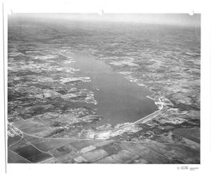 Primary view of object titled '[Aerial Photograph of Grapevine Lake]'.