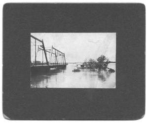Primary view of object titled '[T&P Bridge and Flood Waters]'.
