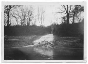 Primary view of object titled '[Cedar Creek Main Sewer Line Entering Trinity River]'.