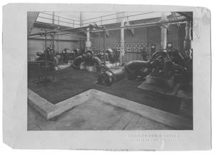 Primary view of object titled '[Pumps at White Rock Filter Station]'.