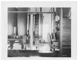Primary view of object titled '[Machinery at White Rock Purification Plant]'.