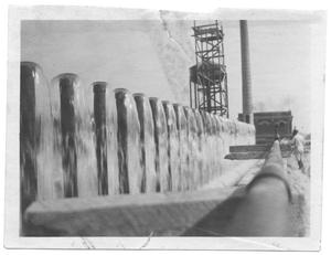 Primary view of object titled '[Aerator at White Rock Lake]'.