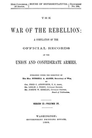 Primary view of object titled 'The War of the Rebellion: A Compilation of the Official Records of the Union And Confederate Armies. Series 2, Volume 4.'.