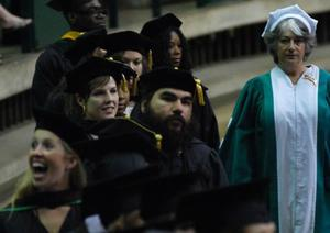 [Students at Masters Commencement Ceremony]