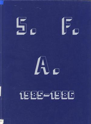 Primary view of object titled 'The Eagle, Yearbook of Stephen F. Austin High School, 1986'.