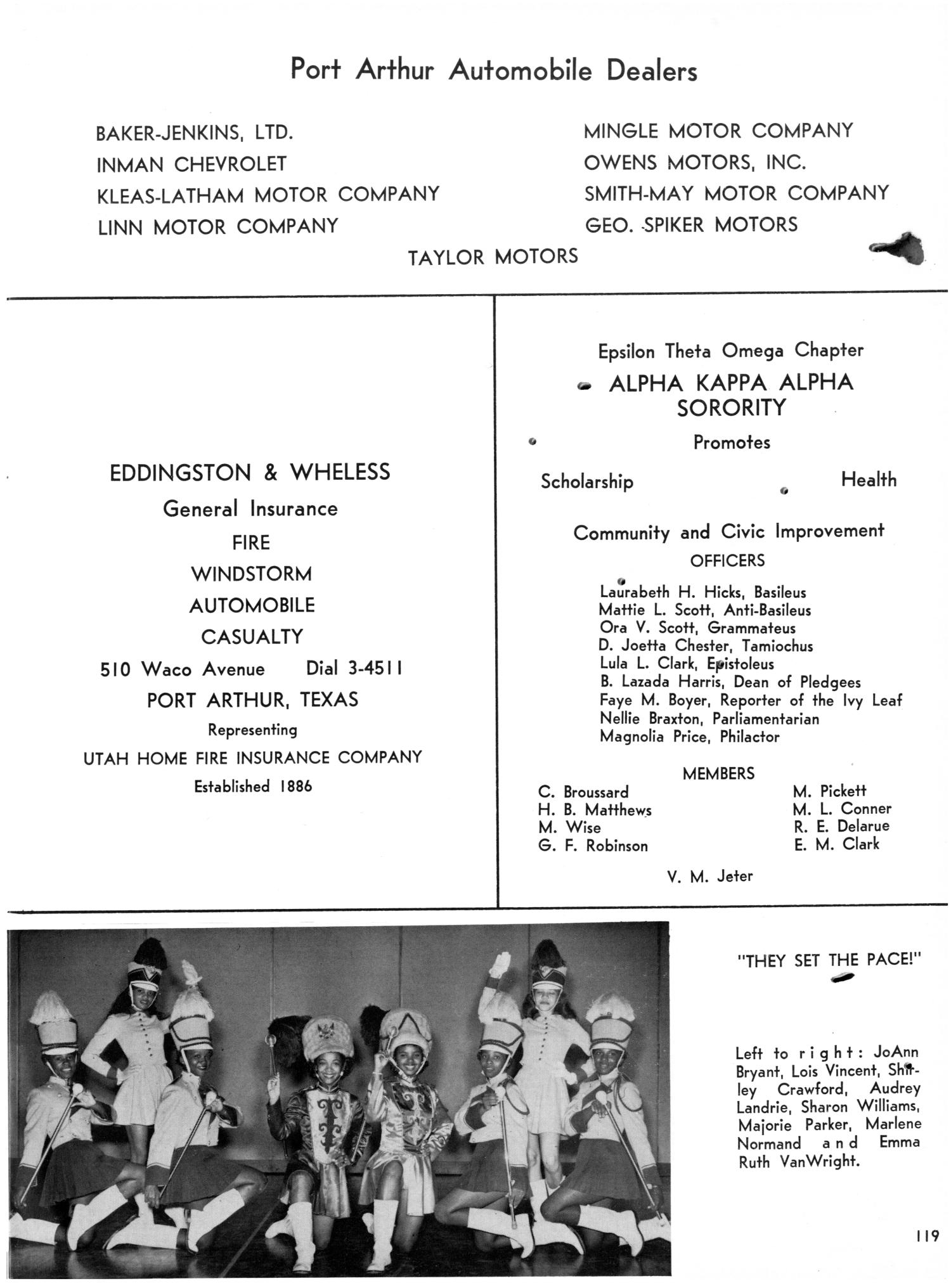 The Bumblebee Yearbook of Lincoln High School 1955 Page 119