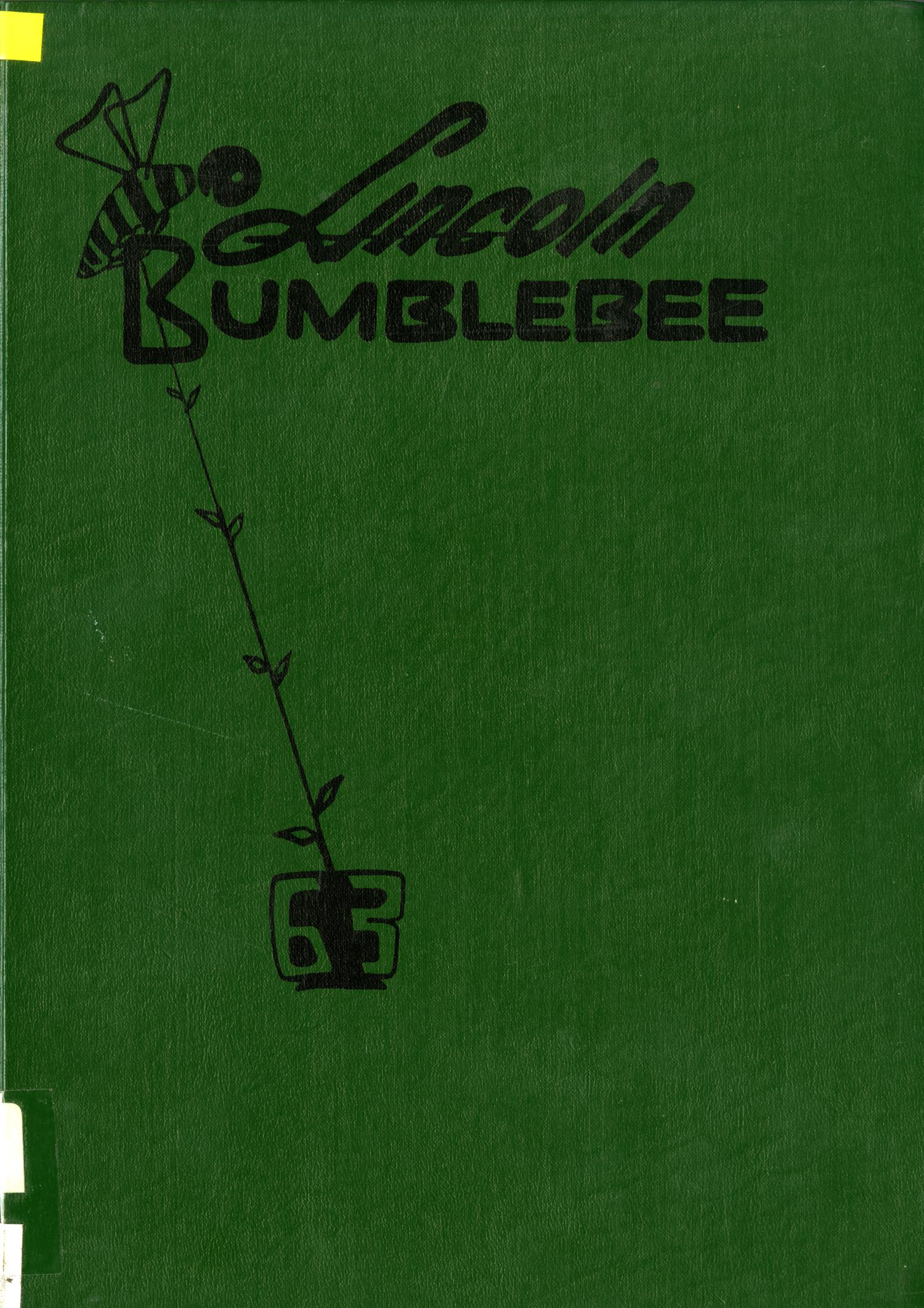 The Bumblebee, Yearbook of Lincoln High School, 1963                                                                                                      Front Cover