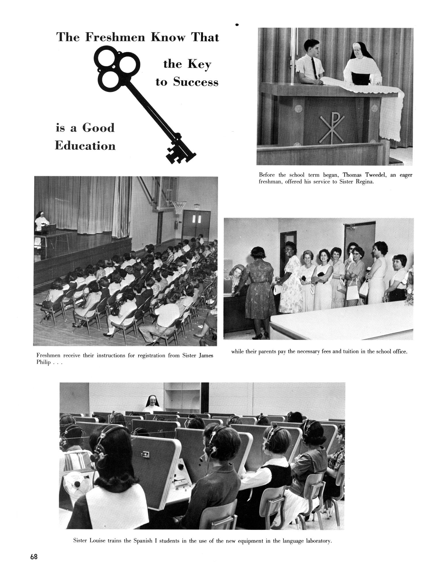 The Christopher, Yearbook of Bishop Byrne High School, 1966                                                                                                      68