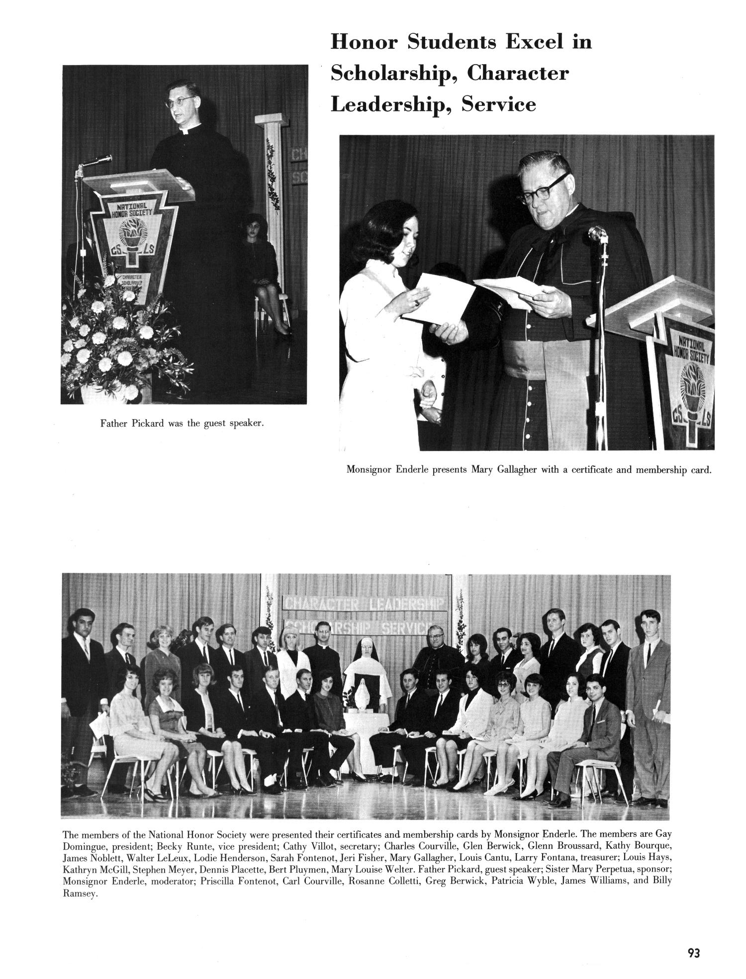 The Christopher, Yearbook of Bishop Byrne High School, 1966                                                                                                      93