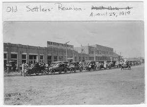 Primary view of object titled 'Old Settler's Reunion, 1919'.