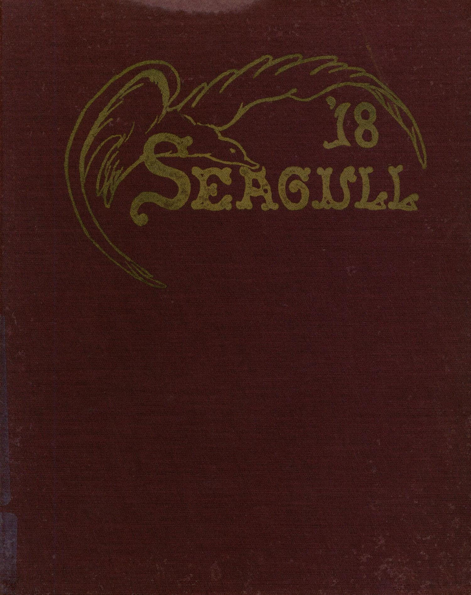 The Seagull, Yearbook of Port Arthur High School, 1918                                                                                                      Front Cover