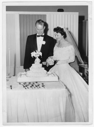 Primary view of object titled 'Mr. and Mrs. Bob Burchard Wedding Photo'.
