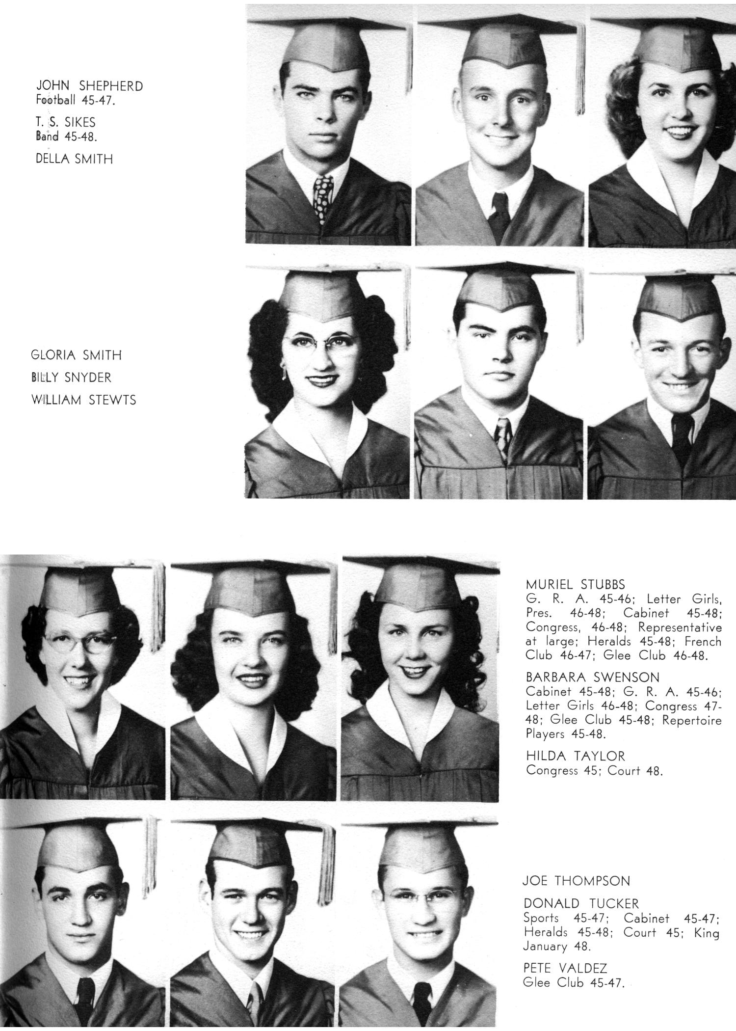 The Yellow Jacket, Yearbook of Thomas Jefferson High School, 1948                                                                                                      25