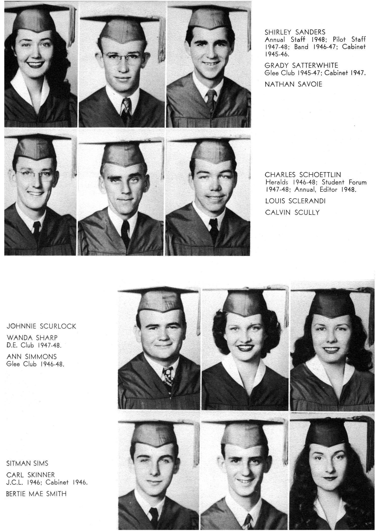The Yellow Jacket, Yearbook of Thomas Jefferson High School, 1948                                                                                                      47