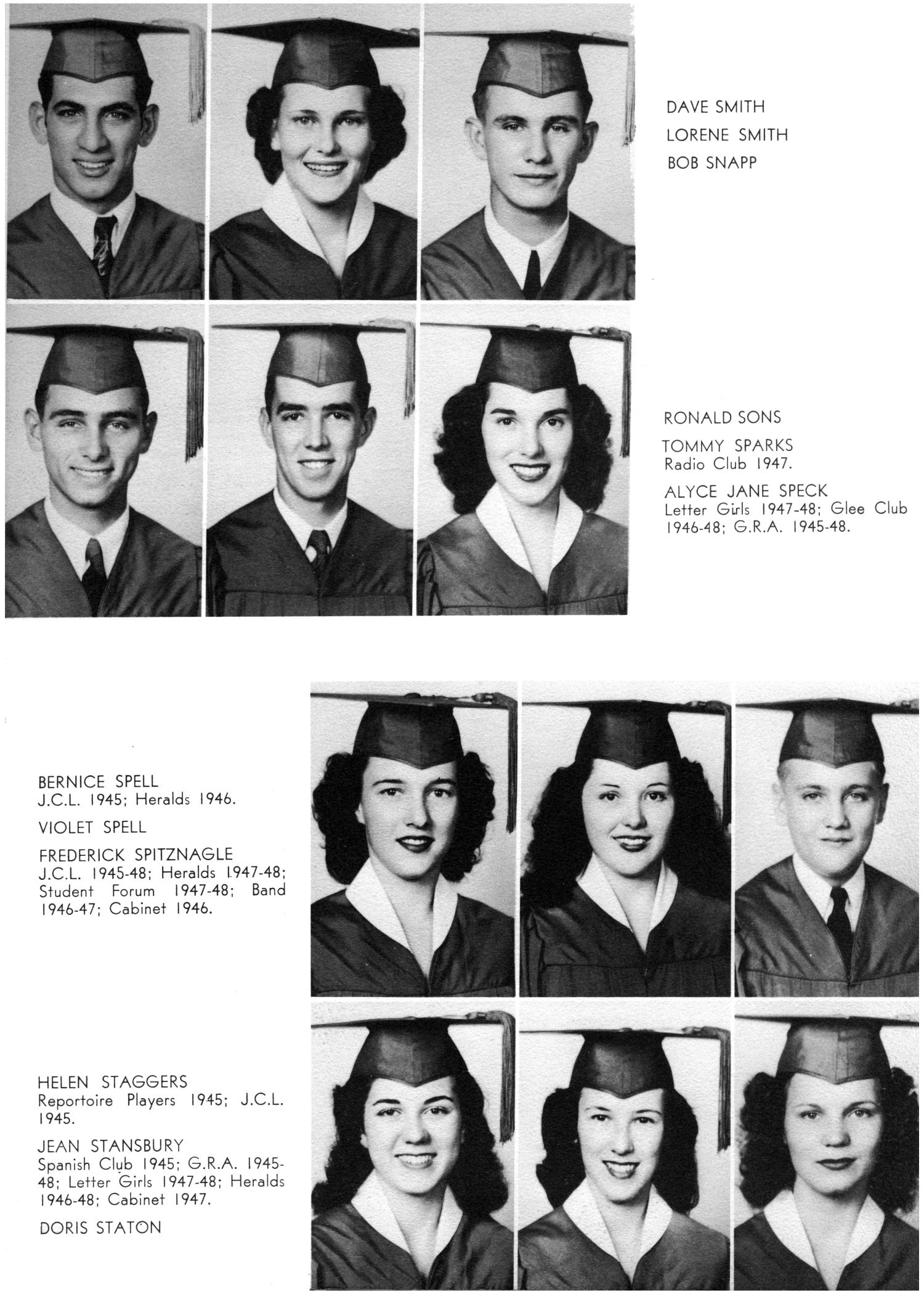 The Yellow Jacket, Yearbook of Thomas Jefferson High School, 1948                                                                                                      48