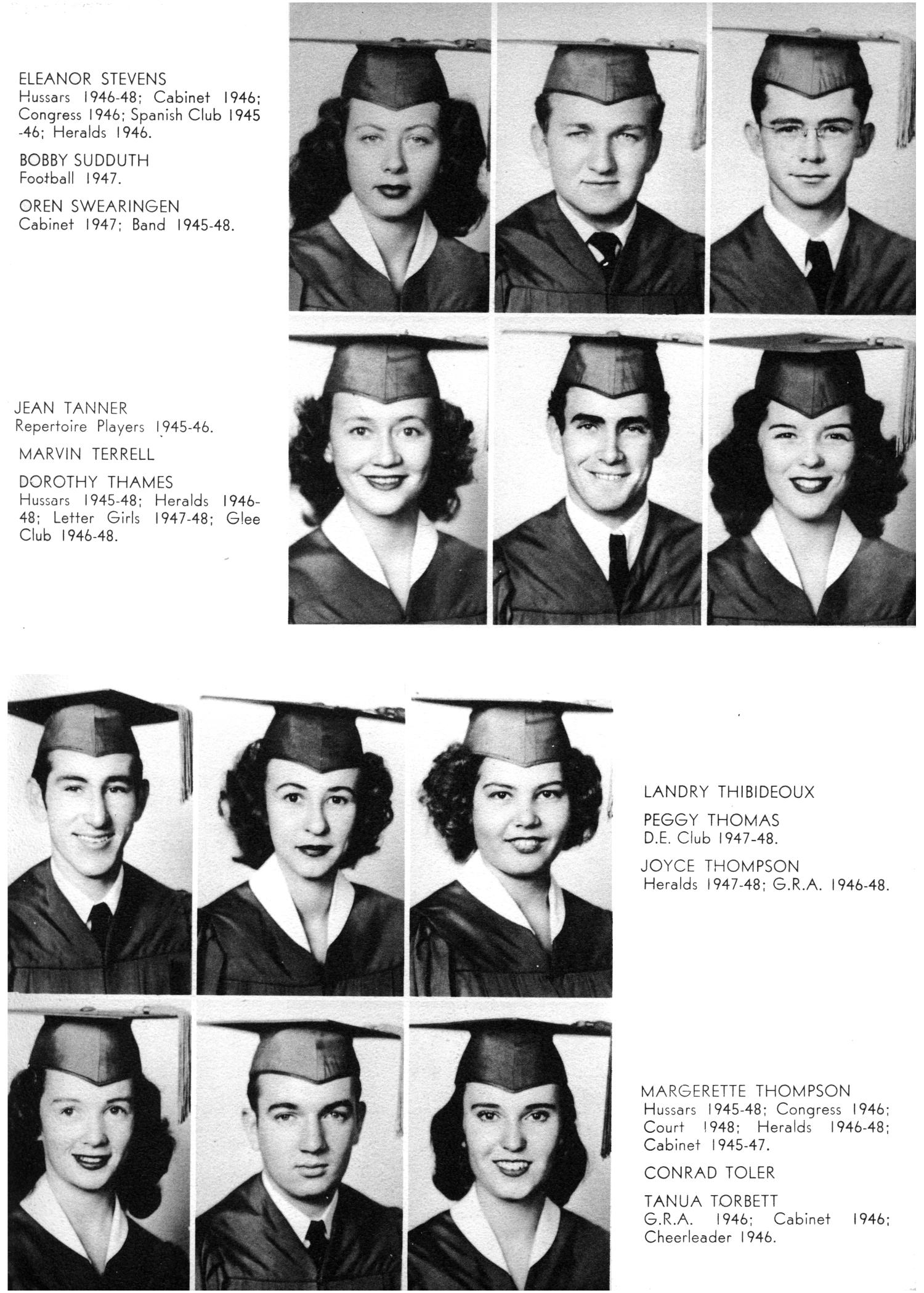 The Yellow Jacket, Yearbook of Thomas Jefferson High School, 1948                                                                                                      49