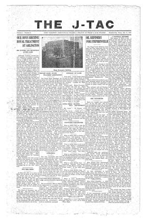 The J-TAC (Stephenville, Tex.), Vol. 1, No. 3, Ed. 1 Tuesday, December 9, 1919