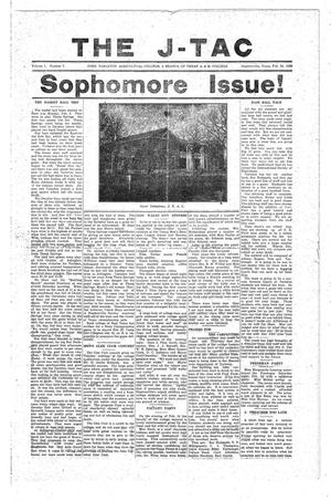 The J-TAC (Stephenville, Tex.), Vol. 1, No. 8, Ed. 1 Tuesday, February 24, 1920