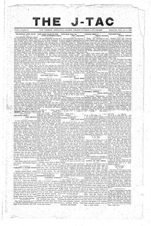 Primary view of The J-TAC (Stephenville, Tex.), Vol. 1, No. 10, Ed. 1 Tuesday, April 6, 1920