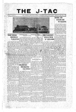 Primary view of The J-TAC (Stephenville, Tex.), Vol. 1, No. 12, Ed. 1 Tuesday, May 4, 1920