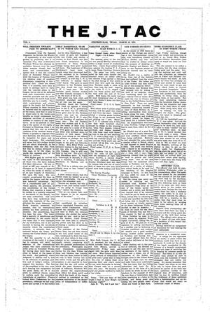 Primary view of object titled 'The J-TAC (Stephenville, Tex.), Vol. 2, Ed. 1 Wednesday, March 16, 1921'.