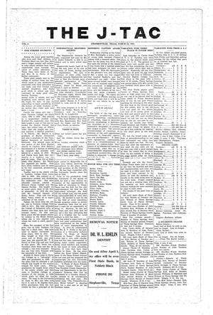 The J-TAC (Stephenville, Tex.), Vol. 2, Ed. 1 Wednesday, March 23, 1921
