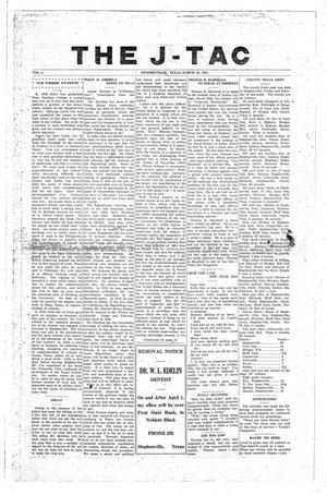 The J-TAC (Stephenville, Tex.), Vol. 2, Ed. 1 Wednesday, March 30, 1921